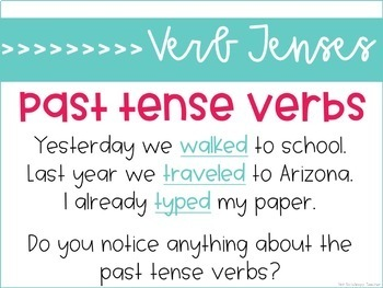 Weekly Grammar and Language Activities: Verb Tenses