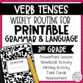 Grammar Third Grade Activities: Verb Tenses