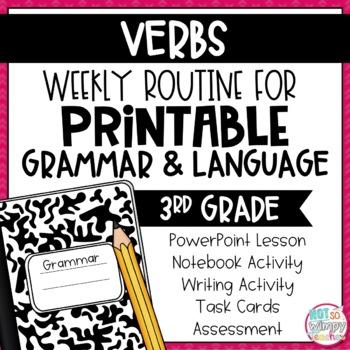Weekly Grammar and Language Activities: Verbs