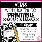 Grammar Third Grade Activities: Verbs
