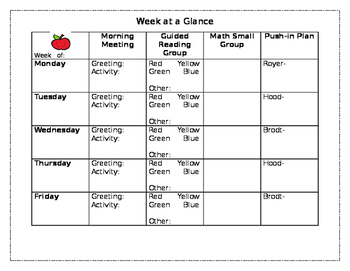 Weekly Group Plan