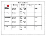 Weekly Group Plan