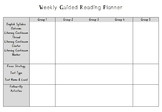 Weekly Guided Reading Planner - 5 Reading Groups