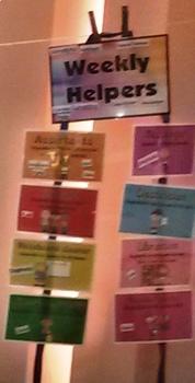 Weekly Helper Signs