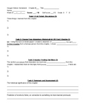 Weekly History Inquiry and Assignment Template Easy Homework Handout