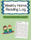 Weekly Home Reading Log