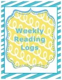 Weekly Home Reading Logs-Common Core Aligned Reading Comprehension Skills