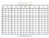 Weekly Homeschool Schedule - Editable PDF Printable
