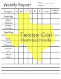 Weekly Homeschool Subject Chart Checklist - Academic Homes