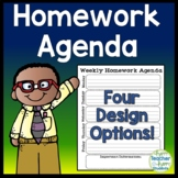 Agenda - Weekly Homework Agenda - 4 Design Options