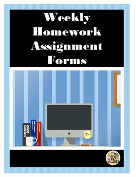 Weekly Homework Assignment Form