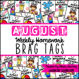 Homework Brag Tags: August