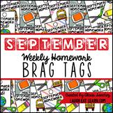 Homework Brag Tags: September