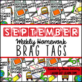 Homework Brag Tags: September