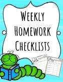 Weekly Homework Checklists