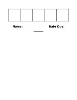 Weekly Homework Cover Sheet