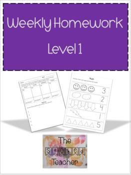 Weekly Homework Level 1