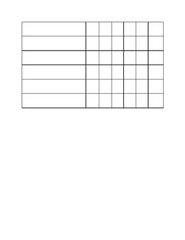 Weekly Homework Log