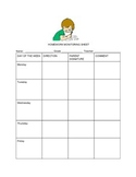 Weekly Homework  Monitoring Sheet