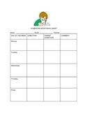 Weekly Homework  Monitoring Sheet