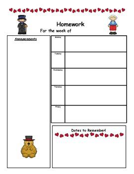 Weekly Homework Newsletters