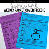 Weekly Homework Packet Cover FREE & Editable