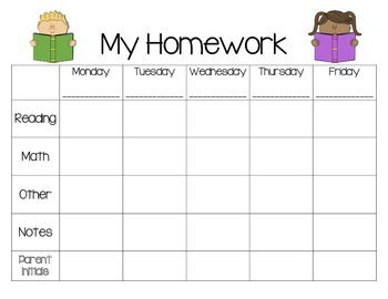Homework for students