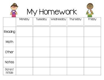 Weekly Homework Planner-Superhero Theme