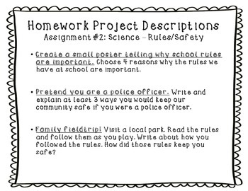 Weekly Homework Projects