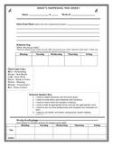 Weekly Homework Sheet Editable!