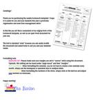 Weekly Homework Template