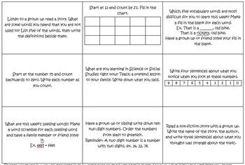 Weekly Homework Tic Tac Toe/Choice Boards 36 Week Packet (Editable Version)