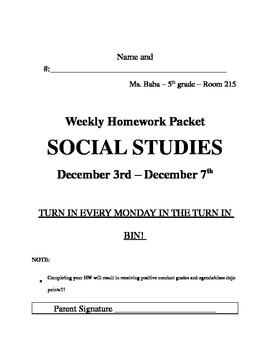 Weekly Homework Title Page