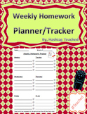 Weekly Homework Tracker and Planner Template