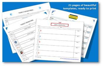 Weekly Homework Tracker, the Carten Way