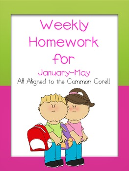 Weekly Homework for January to May CCSS