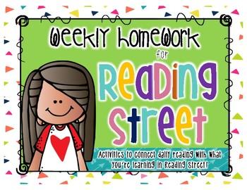 Weekly Homework for Reading Street