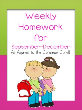 Weekly Homework for September to December CCSS
