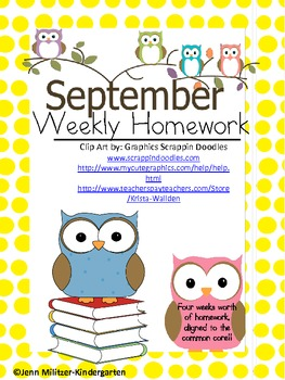 Weekly Homework for the ENTIRE year!