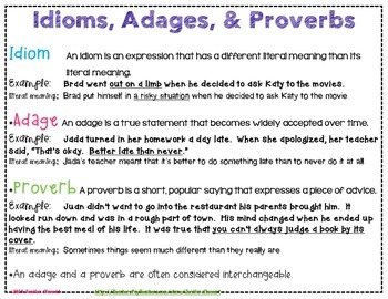 Weekly Idioms, Adages, & Proverbs in Context