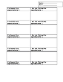 Weekly In Class Behavior Tracking Tool