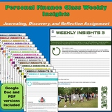 Weekly Insights for a Personal Finance Class   Journal, Ex
