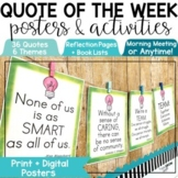 Morning Meeting Weekly Quotes