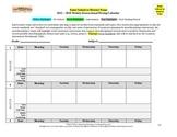 Weekly Instructional Pacing Calendar