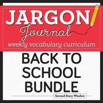 Back to School Vocabulary • First Week of School