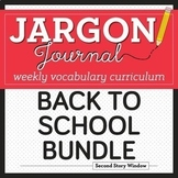 Back to School Vocabulary Bundle • First Week of School