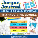 Thanksgiving Activities •  Thanksgiving Vocabulary Bundle