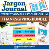 Thanksgiving Activities •  Thanksgiving Vocabulary