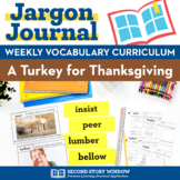 Thanksgiving Activities • A Turkey for Thanksgiving Vocabulary