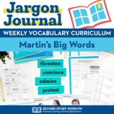 Martin Luther King Activities - MLK Jr. - Martin's Big Words Vocabulary